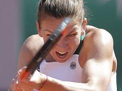Simona Halepová na Roland Garros.