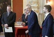Prezident Miloš Zeman jmenoval na Pražském hradě soudce.