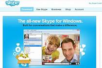 Webová sránka Skype.com