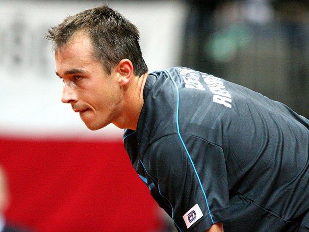 Lukáš Rosol v Davis Cupu proti Srbsku.