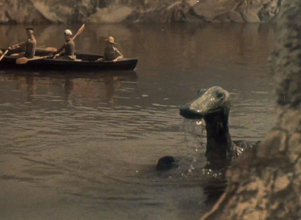 Trachodon z Cesty do pravěku. Tento dinosaurus patřil mezi hadrosauridy neboli kachnozobé dinosaury