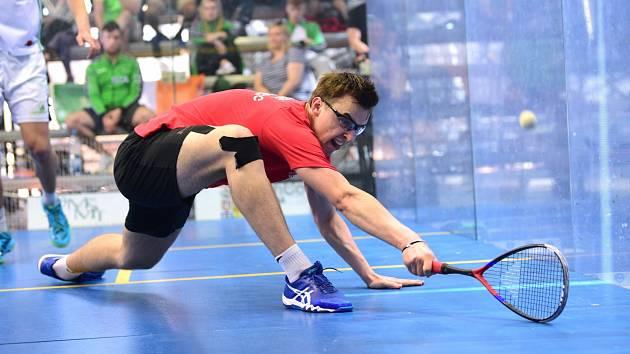Viktor Byrtus, juniorský mistr Evropy ve squashi.