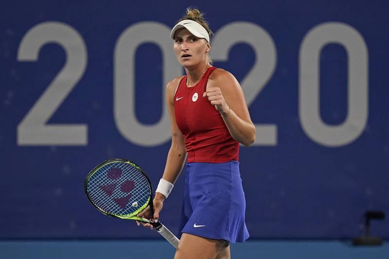 Zápas třetího kola tenisového turnaje žen, Markéta Vondroušová z ČR (na snímku) - Naomi Ósakaová z Japonska.