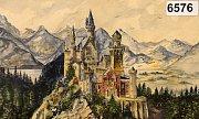 Bavorský zámek Neuschwanstein namalovaný A. Hitlerem, který se prodal v jedné z minulých aukcí.