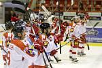 Olomouc - Vítkovice: Domácí hokejisté a jejich radost