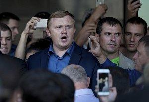Lídr komunistů ve Vladivostoku Andrej Iščenko