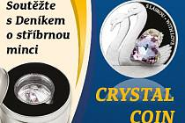 Soutěžte s Deníkem o stříbrnou minci CRYSTAL COIN.