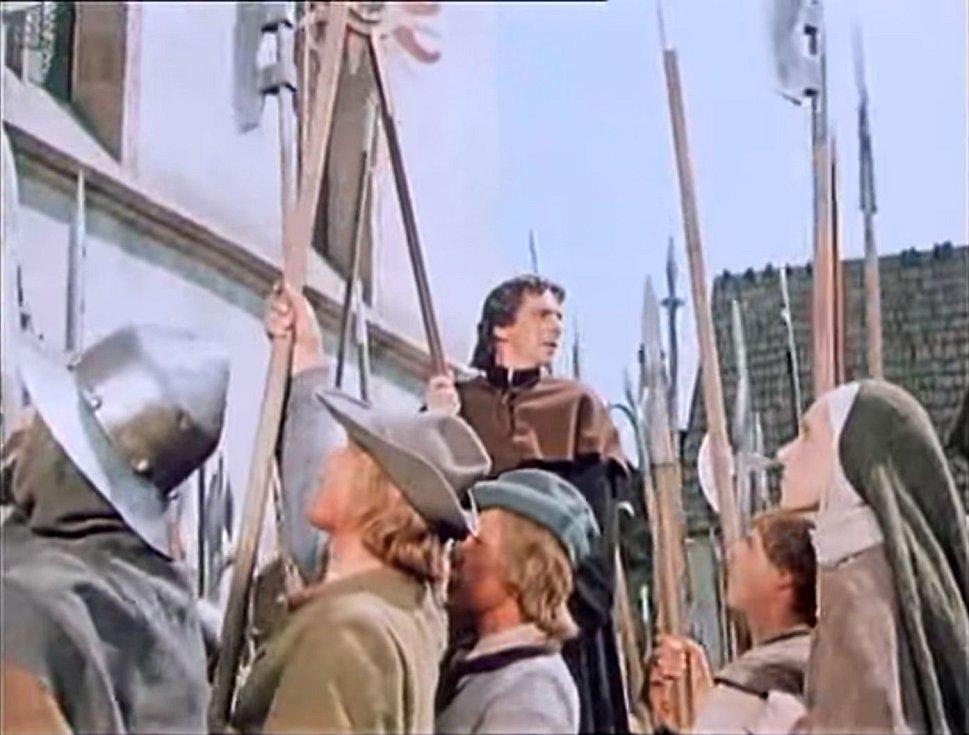 Jan Želivský přivedl lidi před radnici od kostela svatého Štěpána