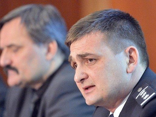 Policejní prezident Martin Červíček vystoupil 15. ledna v Praze na tiskové besedě policejního prezidia k vyhodnocení vývoje kriminality v České republice za rok 2012.