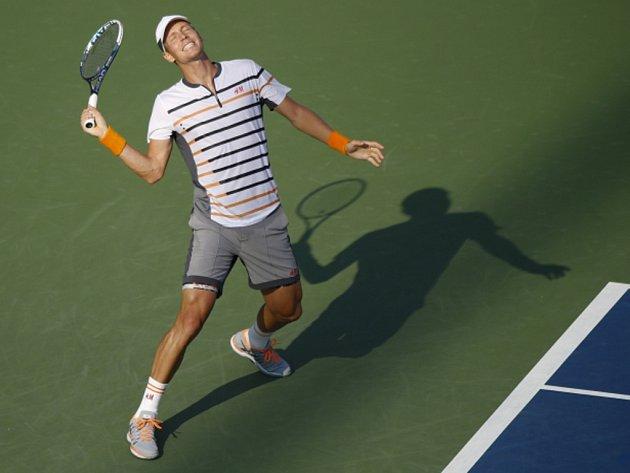 Tomáš Berdych ve čtvrtfinále US Open.