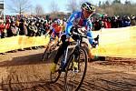 Cyklokrosařka Kateřina Nashová na mistrovství světa v St. Wendel.