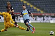 Utkání německé Bundesligy Eintracht Frankfurt vs Borussia Moenchengladbach