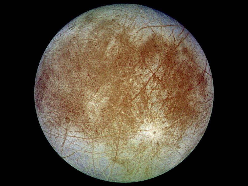 Jupiterův měsíc Europa