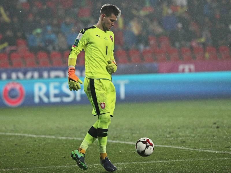 Brankář české reprezentace Tomáš Vaclík.