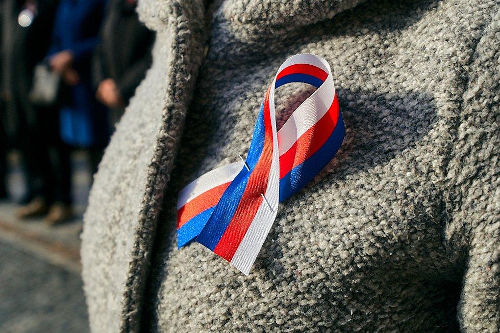 Odhalení památníku s citátem Václava Havla v rámci oslav 17. listopadu v Liberci