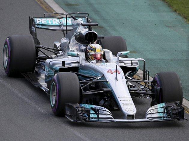 Lewis Hamilton v kvalifikaci na Velkou cenu Austrálie.