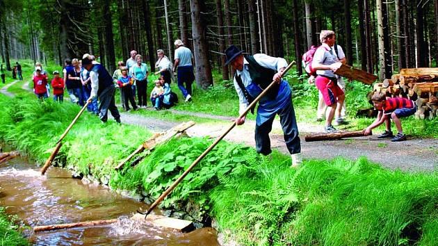 Plavení dřeva na Šumavě