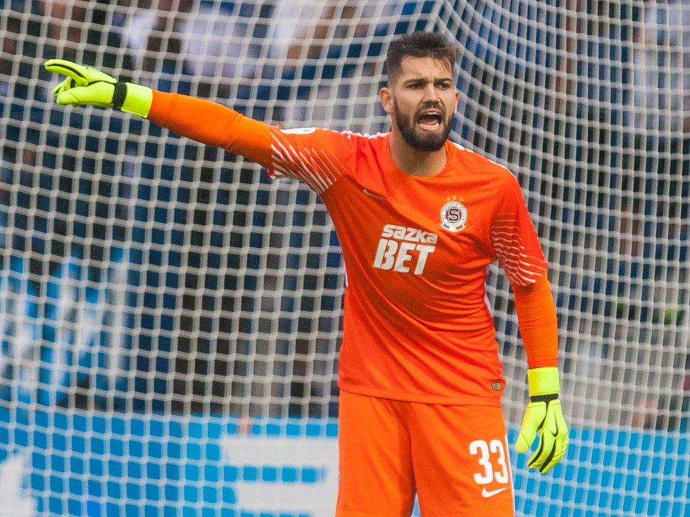 Český fotbalový brankář Tomáš Koubek.