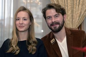 Herci Simona Kollárová a Richard Autner vystoupili 13. listopadu 2018 v Praze na tiskové konferenci České televize (ČT) k letošnímu vánočnímu programu.
