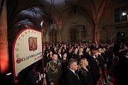 Předávání státních vyznamenání na Pražském hradě.