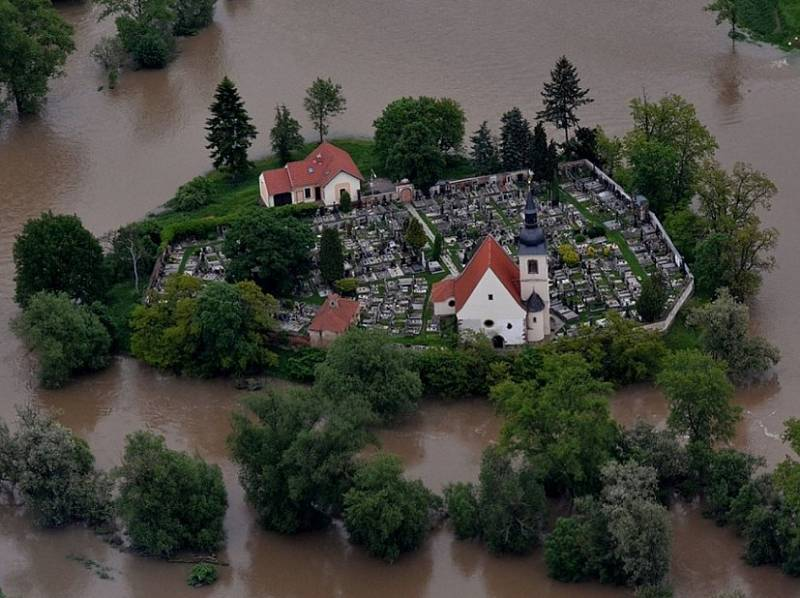 Povodeň v Plzni v roce 2013.
