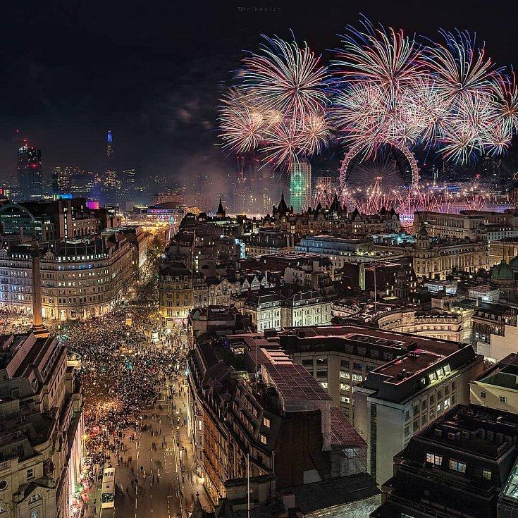 Novoroční oslavy v Londýně