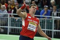 Adam Sebastian Helcelet na halovém mistrovství světa.