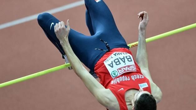 Výškař Jaroslav Bába na halovém mistrovství Evropy v Praze.