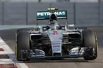 Nico Rosberg v kvalifikaci na Velkou cenu Abú Zabí.