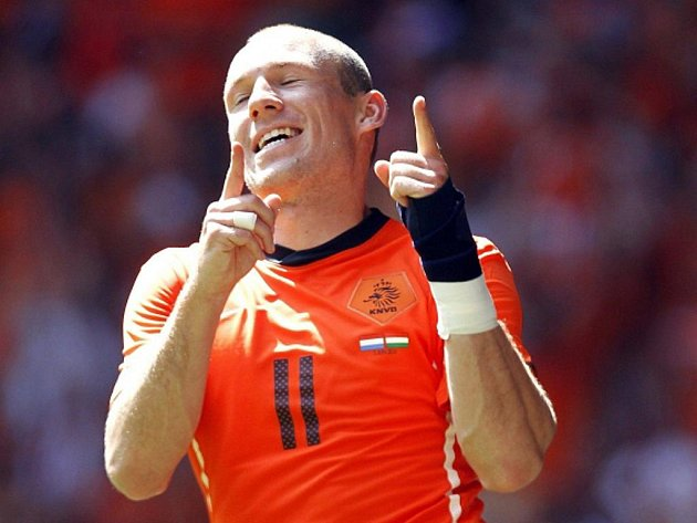 Nizozemský kanonýr Arjen Robben.