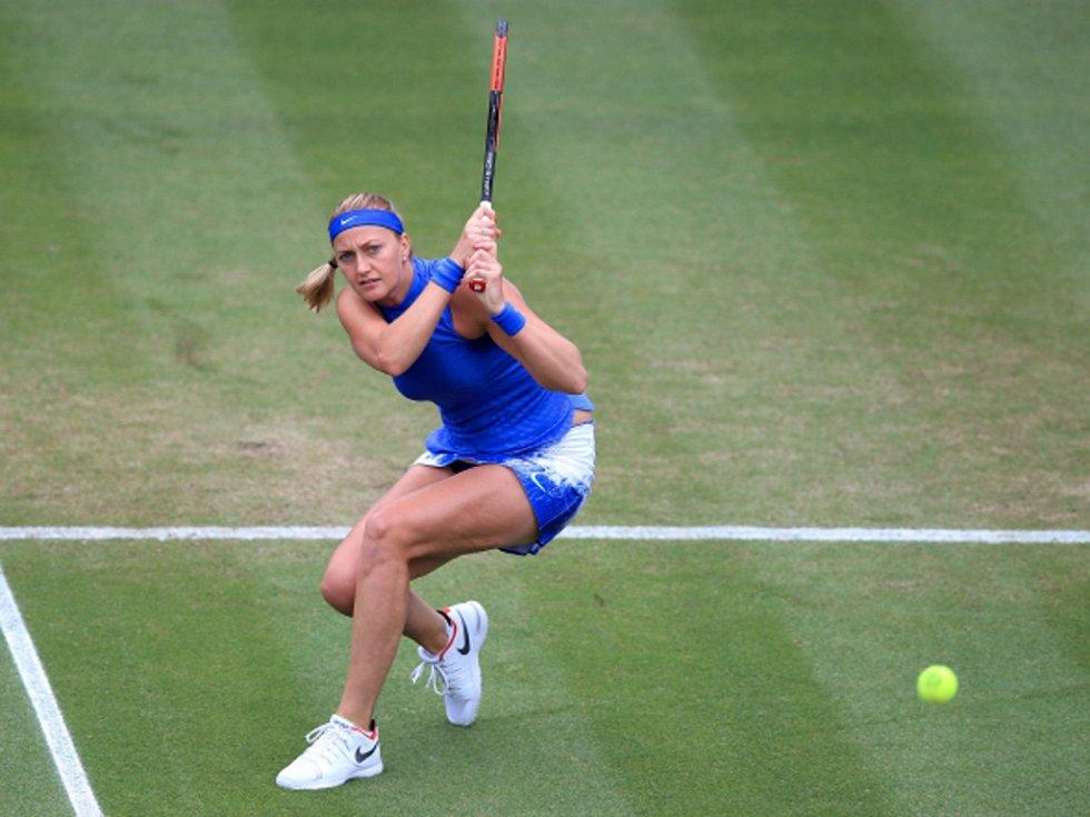 Petra Kvitová na turnaji v Birminghamu.
