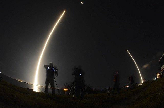 Vypuštění špionážního satelitu společnosti SpaceX