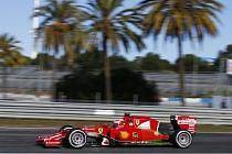 Kimi Räikkönen při testech v Jerezu