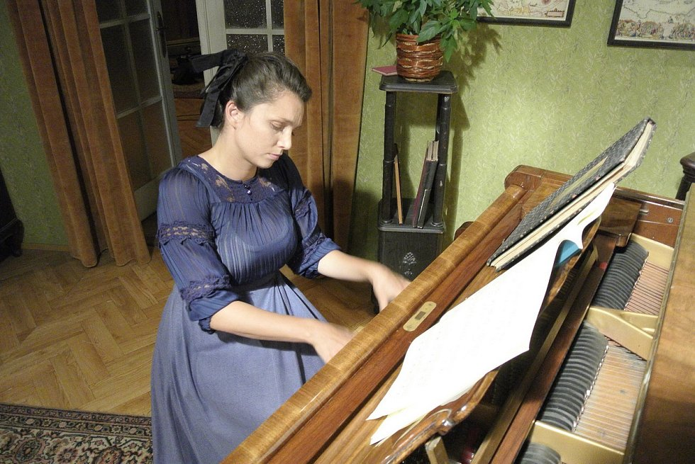 Z natáčení filmu Poslední slovo Charlotty Garrigue Masarykové