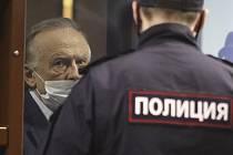 Ruský historik Oleg Sokolov u soudu v Petrohradu, 25. prosince 2020