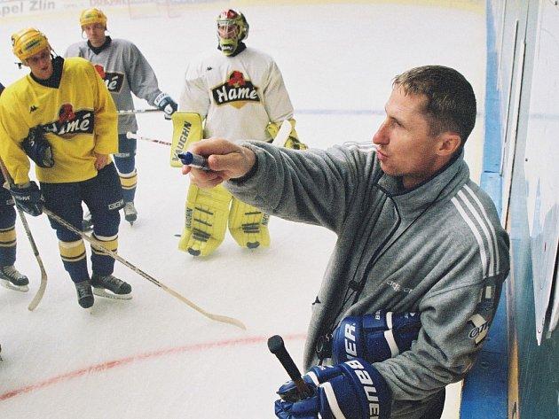 Antonín Stavjaňa v době, kdy vedl hokejový Zlín.