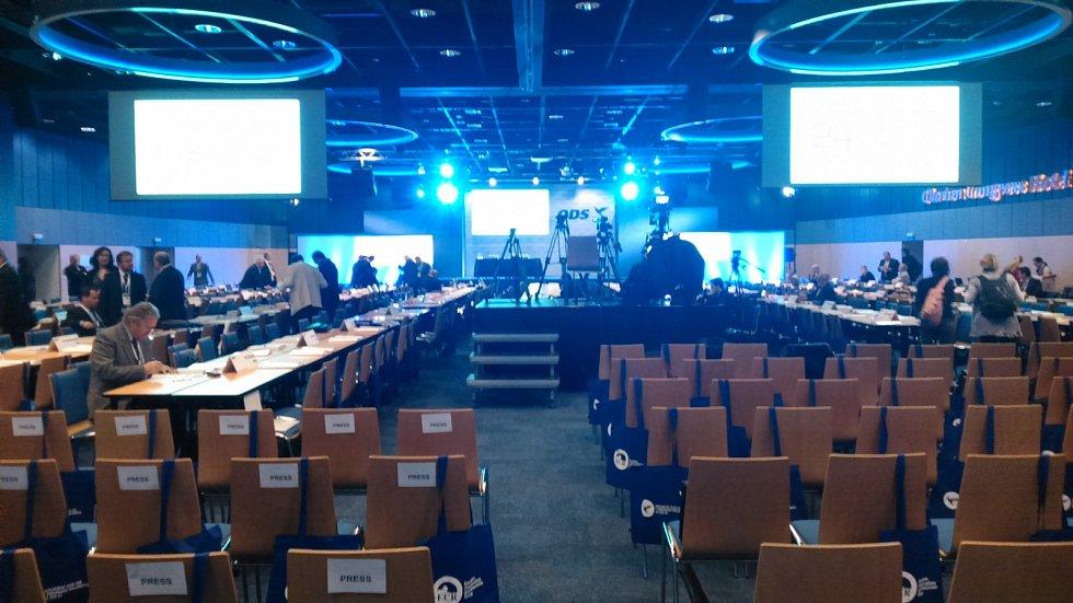 Před zahájením sobotního kongresu ODS