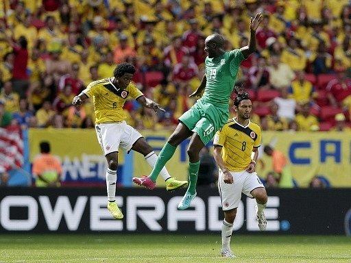 Yaya Touré (v zeleném dresu) na MS