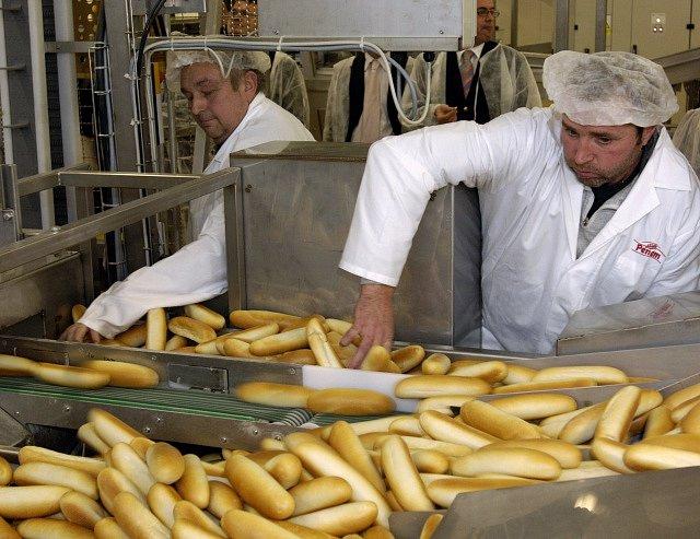 Robotizovaná pekárna Penam v Herinku u Prahy. Ilustrační foto