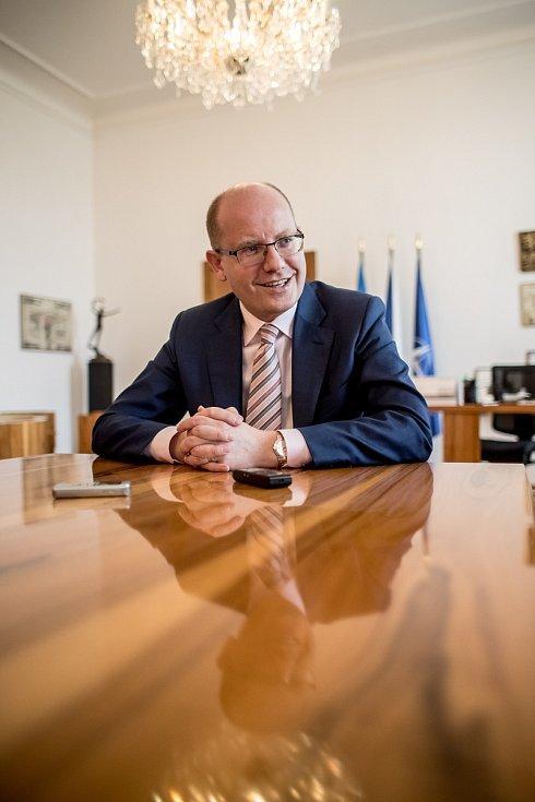 Premiér Bohuslav Sobotka poskytl 26. května v Praze rozhovor Deníku.