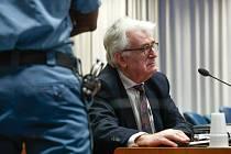 Bývalý vůdce bosenských Srbů Radovan Karadžič před soudem v Haagu