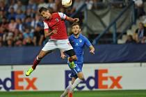 Liberec - Braga: Daniel Bartl sleduje Crislana
