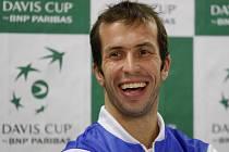 Radek Štěpánek měl před finále Davis Cupu proti Španělsku dobrou náladu.