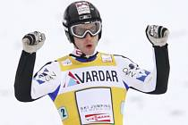 Rakušan Martin Koch se raduje, jeho tým vyhrál SP.