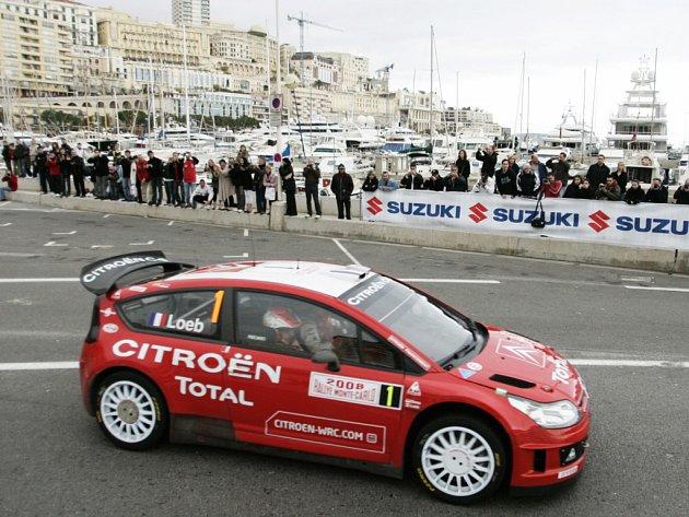 Sébastien Loeb v poslední etapě Rallye Monte Carlo.