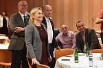 Brno 21.10.2017 - volební štáb hnutí ANO v brněnském hotelu Voroněž. Na snímku jihomoravská lídryně Taťána Malá.