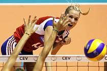 Česká volejbalistka Helena Havelková.