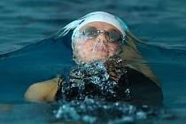 Plavkyně Simona Baumrtová.