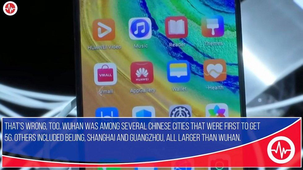 Fakta Ickeho tvrzení vyvracejí - kromě Wu-Chanu spustila 5G také města Peking, Šanghaj nebo Kanton, všechna větší než Wu-chan