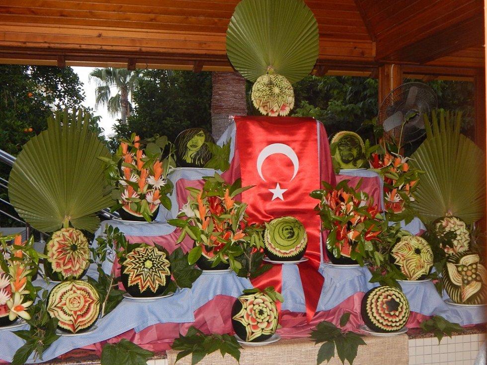 Alanya: speciální výzdoba v hotelu Saphir
